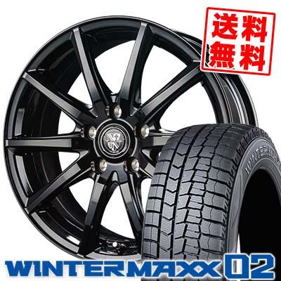 215/70R15 98Q DUNLOP ダンロップ WINTER MAXX 02 WM02 ウインターマックス 02 TRG-GB10 TRG GB10 スタッドレスタイヤホイール4本セット