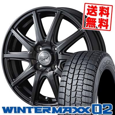 185/60R16 86Q DUNLOP ダンロップ WINTER MAXX 02 WM02 ウインターマックス 02 FINALSPEED GR-Γ ファイナルスピード GRガンマ スタッドレスタイヤホイール4本セット