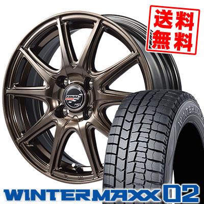 185/65R15 88Q DUNLOP ダンロップ WINTER MAXX 02 WM02 ウインターマックス 02 FINALSPEED GR-Volt ファイナルスピード GRボルト スタッドレスタイヤホイール4本セット