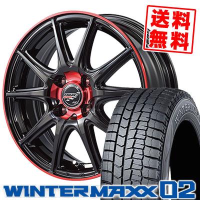155/65R14 75Q DUNLOP ダンロップ WINTER MAXX 02 WM02 ウインターマックス 02 FINALSPEED GR-Volt ファイナルスピード GRボルト スタッドレスタイヤホイール4本セット