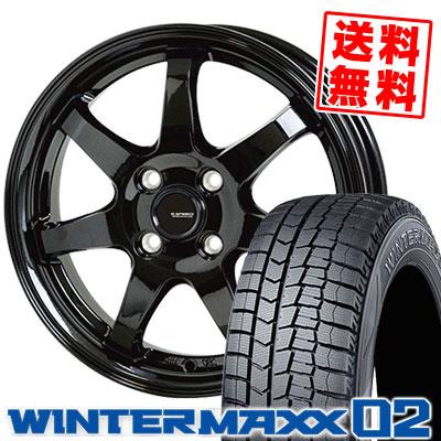 145/80R13 75Q DUNLOP ダンロップ WINTER MAXX 02 WM02 ウインターマックス 02 G.speed G-03 Gスピード G-03 スタッドレスタイヤホイール4本セット