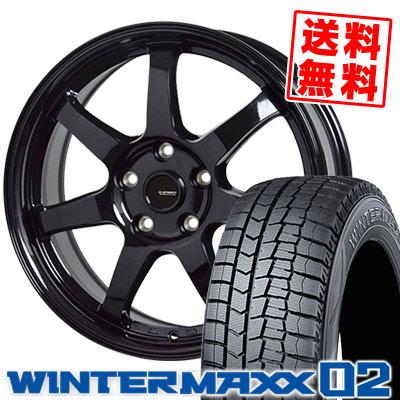 215/65R16 98Q DUNLOP ダンロップ WINTER MAXX 02 WM02 ウインターマックス 02 G.speed G-03 Gスピード G-03 スタッドレスタイヤホイール4本セット