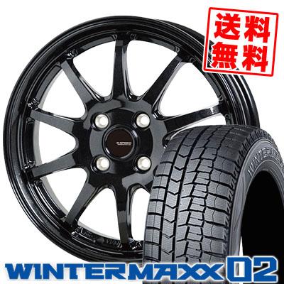 185/55R16 83Q DUNLOP ダンロップ WINTER MAXX 02 WM02 ウインターマックス 02 G.speed G-04 Gスピード G-04 スタッドレスタイヤホイール4本セット