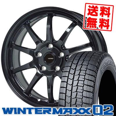 225/55R18 98Q DUNLOP ダンロップ WINTER MAXX 02 WM02 ウインターマックス 02 G.speed G-04 Gスピード G-04 スタッドレスタイヤホイール4本セット