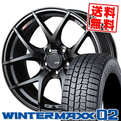245/45R19 98Q DUNLOP ダンロップ WINTER MAXX 02 WM02 ウインターマックス 02 SSR GTV03 SSR GTV03 スタッドレスタイヤホイール4本セット