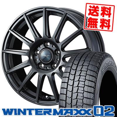 195/60R16 89Q DUNLOP ダンロップ WINTER MAXX 02 WM02 ウインターマックス 02 VELVA IGOR ヴェルヴァ イゴール スタッドレスタイヤホイール4本セット