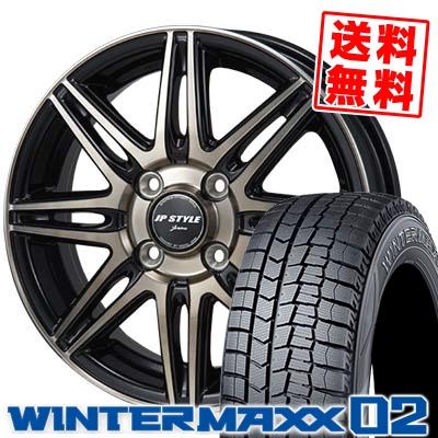 145/65R15 DUNLOP ダンロップ WINTER MAXX 02 WM02 ウインターマックス 02 JP STYLE JERIVA JPスタイル ジェリバ スタッドレスタイヤホイール4本セット