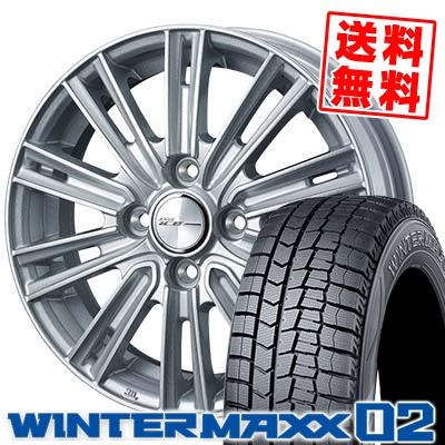 185/55R16 83Q DUNLOP ダンロップ WINTER MAXX 02 WM02 ウインターマックス 02 WEDS JOKER ICE ウェッズ ジョーカー アイス スタッドレスタイヤホイール4本セット