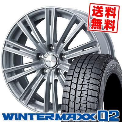 215/60R16 95Q DUNLOP ダンロップ WINTER MAXX 02 WM02 ウインターマックス 02 WEDS JOKER ICE ウェッズ ジョーカー アイス スタッドレスタイヤホイール4本セット