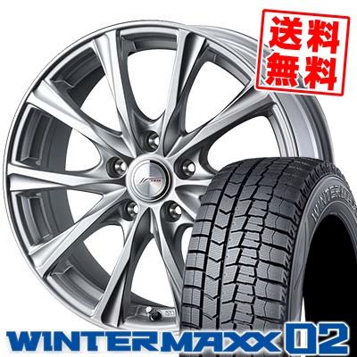 195/60R16 DUNLOP ダンロップ WINTER MAXX 02 WM02 ウインターマックス 02 JOKER MAGIC ジョーカー マジック スタッドレスタイヤホイール4本セット