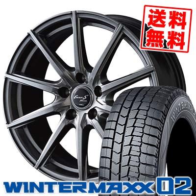 195/70R15 92Q DUNLOP ダンロップ WINTER MAXX 02 WM02 ウインターマックス 02 EuroStream JL10 ユーロストリーム JL10 スタッドレスタイヤホイール4本セット