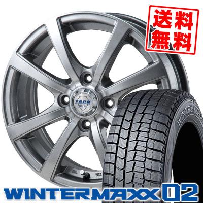 165/65R15 81Q DUNLOP ダンロップ WINTER MAXX 02 WM02 ウインターマックス 02 ZACK JP-110 ザック JP110 スタッドレスタイヤホイール4本セット