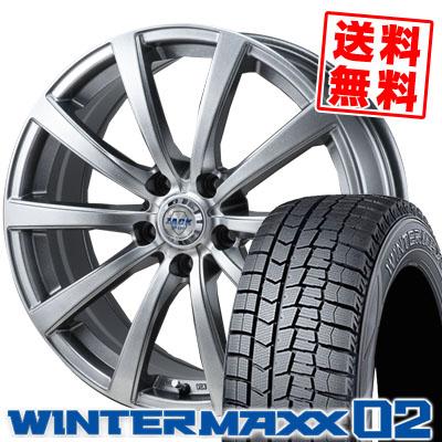 205/60R15 DUNLOP ダンロップ WINTER MAXX 02 WM02 ウインターマックス 02 ZACK JP-110 ザック JP110 スタッドレスタイヤホイール4本セット