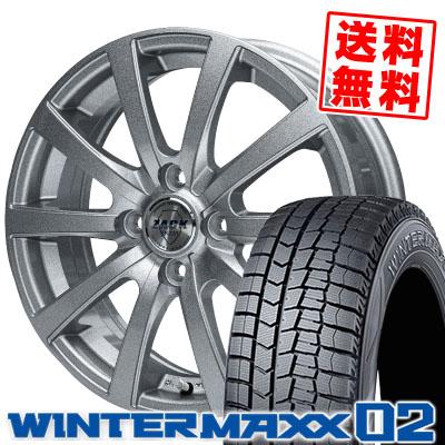 165/70R13 79Q DUNLOP ダンロップ WINTER MAXX 02 WM02 ウインターマックス 02 ZACK JP-110 ザック JP110 スタッドレスタイヤホイール4本セット