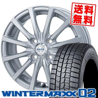 185/55R16 DUNLOP ダンロップ WINTER MAXX 02 WM02 ウインターマックス 02 ZACK JP-112 ザック JP112 スタッドレスタイヤホイール4本セット
