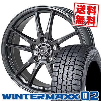 195/70R15 92Q DUNLOP ダンロップ WINTER MAXX 02 WM02 ウインターマックス 02 ZACK JP-520 ザック ジェイピー520 スタッドレスタイヤホイール4本セット