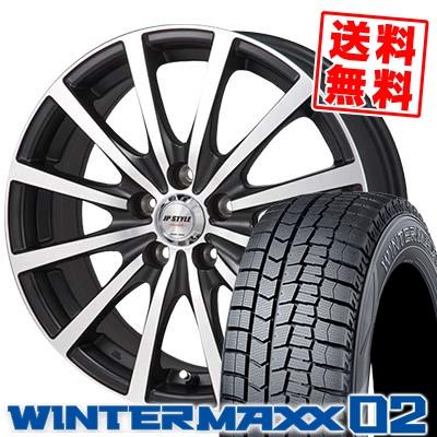 205/50R17 DUNLOP ダンロップ WINTER MAXX 02 WM02 ウインターマックス 02 JP STYLE Shangly JPスタイル シャングリー スタッドレスタイヤホイール4本セット