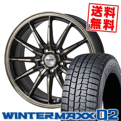 215/70R15 DUNLOP ダンロップ WINTER MAXX 02 WM02 ウインターマックス 02 JP STYLE Vercely JPスタイル バークレー スタッドレスタイヤホイール4本セット