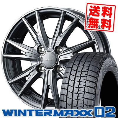 175/70R14 84Q DUNLOP ダンロップ WINTER MAXX 02 WM02 ウインターマックス 02 VELVA KEVIN ヴェルヴァ ケヴィン スタッドレスタイヤホイール4本セット