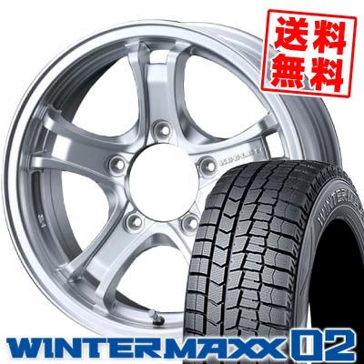 225/60R16 DUNLOP ダンロップ WINTER MAXX 02 WM02 ウインターマックス 02 KEELER FORCE キーラーフォース スタッドレスタイヤホイール4本セット