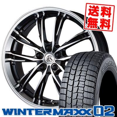 235/45R18 DUNLOP ダンロップ WINTER MAXX 02 WM02 ウインターマックス 02 Kashina XV5 カシーナ XV5 スタッドレスタイヤホイール4本セット