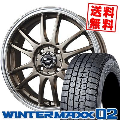 165/55R15 DUNLOP ダンロップ WINTER MAXX 02 WM02 ウインターマックス 02 BADX S-HOLD LAGUNA バドックス エスホールド ラグナ スタッドレスタイヤホイール4本セット