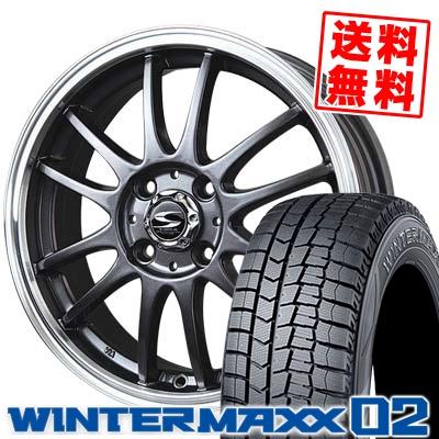 185/65R15 DUNLOP ダンロップ WINTER MAXX 02 WM02 ウインターマックス 02 BADX S-HOLD LAGUNA バドックス エスホールド ラグナ スタッドレスタイヤホイール4本セット