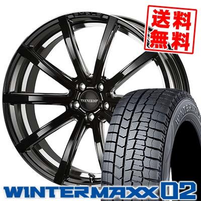 245/45R19 DUNLOP ダンロップ WINTER MAXX 02 WM02 ウインターマックス 02 VENERDi MADELENA LATINA ヴェネルディ マデリーナ ラティーナ スタッドレスタイヤホイール4本セット