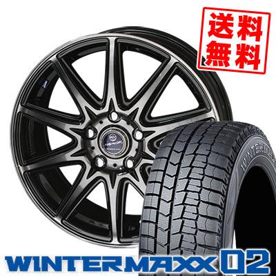 205/65R16 DUNLOP ダンロップ WINTER MAXX 02 WM02 ウインターマックス 02 SMACK LAVINE スマック ラヴィーネ スタッドレスタイヤホイール4本セット