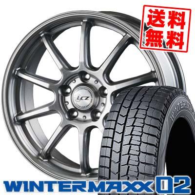 215/50R17 DUNLOP ダンロップ WINTER MAXX 02 WM02 ウインターマックス 02 LCZ010 LCZ010 スタッドレスタイヤホイール4本セット