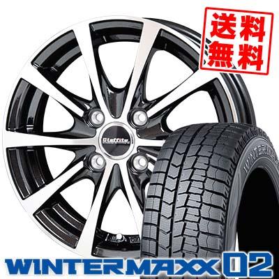 165/65R13 DUNLOP ダンロップ WINTER MAXX 02 WM02 ウインターマックス 02 Laffite LE-03 ラフィット LE-03 スタッドレスタイヤホイール4本セット