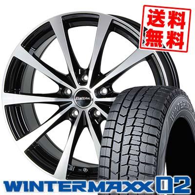 215/65R15 DUNLOP ダンロップ WINTER MAXX 02 WM02 ウインターマックス 02 Laffite LE-03 ラフィット LE-03 スタッドレスタイヤホイール4本セット