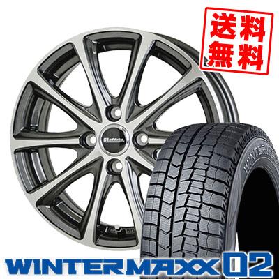195/55R15 85Q DUNLOP ダンロップ WINTER MAXX 02 WM02 ウインターマックス 02 Laffite LE-04 ラフィット LE-04 スタッドレスタイヤホイール4本セット