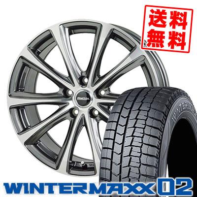 215/65R15 96Q DUNLOP ダンロップ WINTER MAXX 02 WM02 ウインターマックス 02 Laffite LE-04 ラフィット LE-04 スタッドレスタイヤホイール4本セット