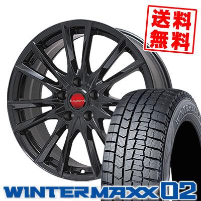 215/65R15 DUNLOP ダンロップ WINTER MAXX 02 WM02 ウインターマックス 02 LeyBahn GBX レイバーン GBX スタッドレスタイヤホイール4本セット