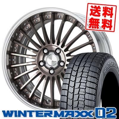 245/40R19 DUNLOP ダンロップ WINTER MAXX 02 WM02 ウインターマックス 02 WORK LANVEC LM1 ワーク ランベック エルエムワン スタッドレスタイヤホイール4本セット