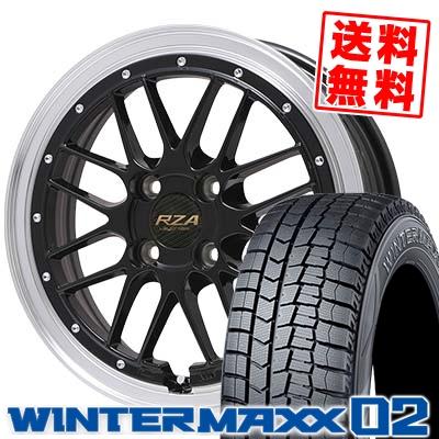 145/65R15 DUNLOP ダンロップ WINTER MAXX 02 WM02 ウインターマックス 02 Leycross REZERVA レイクロス レゼルヴァ スタッドレスタイヤホイール4本セット