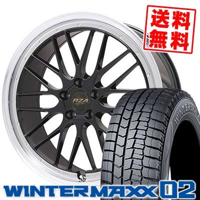 225/50R17 DUNLOP ダンロップ WINTER MAXX 02 WM02 ウインターマックス 02 Leycross REZERVA レイクロス レゼルヴァ スタッドレスタイヤホイール4本セット