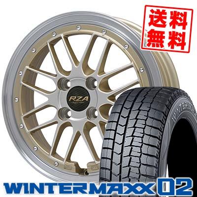 165/60R14 DUNLOP ダンロップ WINTER MAXX 02 WM02 ウインターマックス 02 Leycross REZERVA レイクロス レゼルヴァ スタッドレスタイヤホイール4本セット