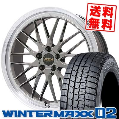 245/45R19 DUNLOP ダンロップ WINTER MAXX 02 WM02 ウインターマックス 02 Leycross REZERVA レイクロス レゼルヴァ スタッドレスタイヤホイール4本セット
