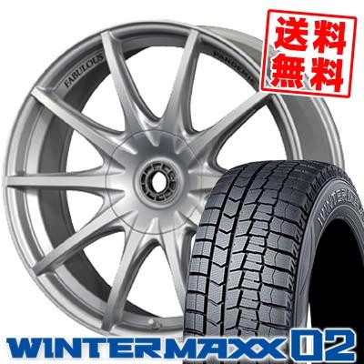 225/50R18 DUNLOP ダンロップ WINTER MAXX 02 WM02 ウインターマックス 02 PANDEMIC LW-10 MONO BLOCK パンデミック LW-10 モノブロック スタッドレスタイヤホイール4本セット