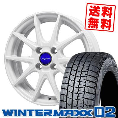 145/65R15 DUNLOP ダンロップ WINTER MAXX 02 WM02 ウインターマックス 02 LeyBahn WGS レイバーン WGS スタッドレスタイヤホイール4本セット