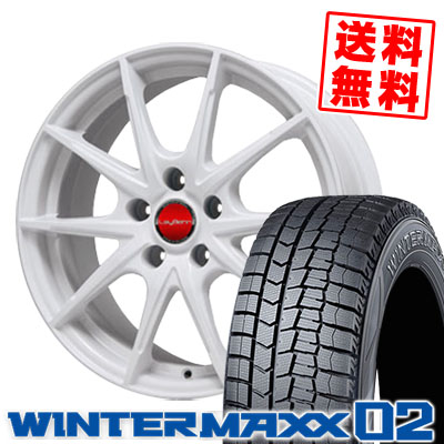 195/65R15 DUNLOP ダンロップ WINTER MAXX 02 WM02 ウインターマックス 02 LeyBahn WGS レイバーン WGS スタッドレスタイヤホイール4本セット