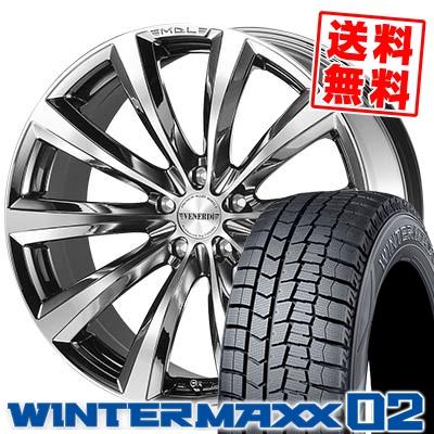 205/50R17 DUNLOP ダンロップ WINTER MAXX 02 WM02 ウインターマックス 02 VENERDi MADELENA ヴェネルディ マデリーナ スタッドレスタイヤホイール4本セット