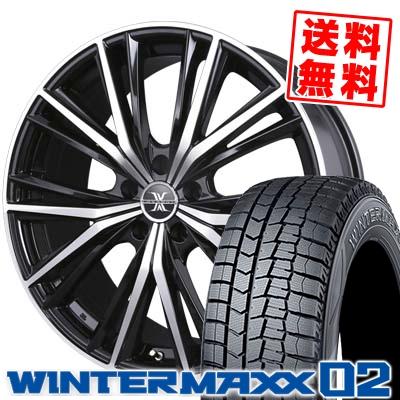 235/45R18 DUNLOP ダンロップ WINTER MAXX 02 WM02 ウインターマックス 02 BADX LOXARNY MAGNUS バドックス ロクサーニ マグナス スタッドレスタイヤホイール4本セット【取付対象】