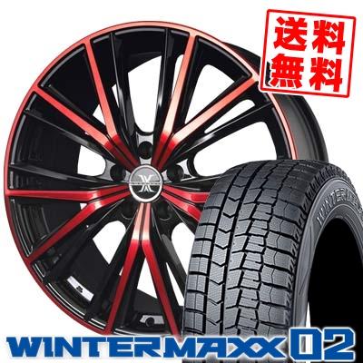 245 40R18 DUNLOP ダンロップ WINTER MAXX 02 WM02 ウインターマックス 02 BADX LOXARNY MAGNUS バドックス ロクサーニ マグナス スタッドレスタイヤホイール4本セット