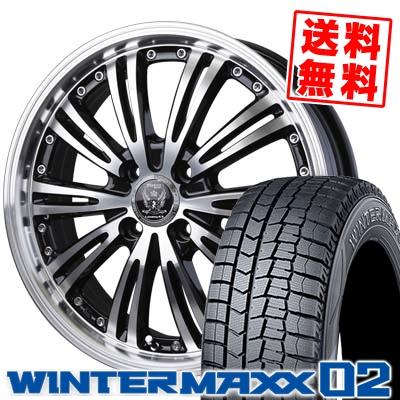 145/65R15 DUNLOP ダンロップ WINTER MAXX 02 WM02 ウインターマックス 02 BADX LOXARNY EX MATRIX JUNIOR バドックス ロクサーニ EX マトリックスジュニア スタッドレスタイヤホイール4本セット
