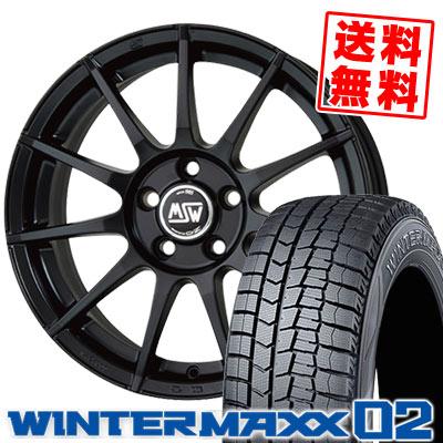 MAXX 87Q ダンロップ MSW85 WM02 02 MSW85 スタッドレスタイヤホイール4本セット 【For BENZ】【取付対象】 ウインターマックス WINTER 215/45R17 02 DUNLOP
