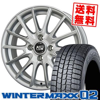 195/65R15 91Q DUNLOP ダンロップ WINTER MAXX 02 WM02 ウインターマックス 02 MSW86 MSW86 スタッドレスタイヤホイール4本セット 【For CITROEN】