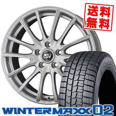 235/50R18 97Q DUNLOP ダンロップ WINTER MAXX 02 WM02 ウインターマックス 02 MSW86 MSW86 スタッドレスタイヤホイール4本セット 【For FORD】【取付対象】